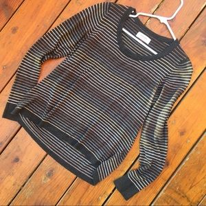 Sonoma stripped Sweater - olive and tan